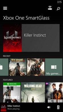 smartglass 220x391 Xbox One review: A multimedia extravaganza that also plays games