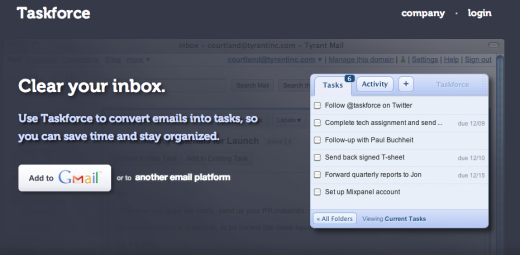 taskforce screenshot 520x255 7 great services for taking back control of your inbox