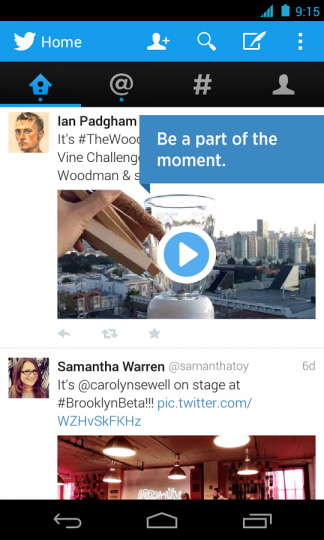 twitter android 10 Web design trends you can expect to see in 2014