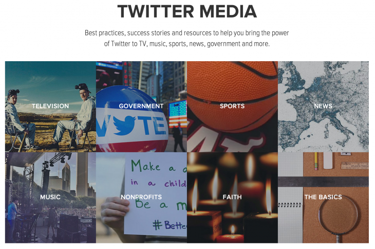 twittermedia 730x484 Twitter courts businesses with new media site showing success stories, best practices, and tools