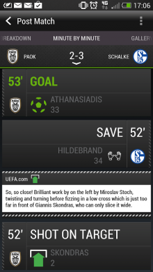 unnamed1 220x391 HTC launches Android app for real time updates from the Champions League and Europa League