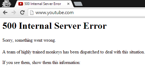 youtube error YouTube goes down for some users, second time in two days