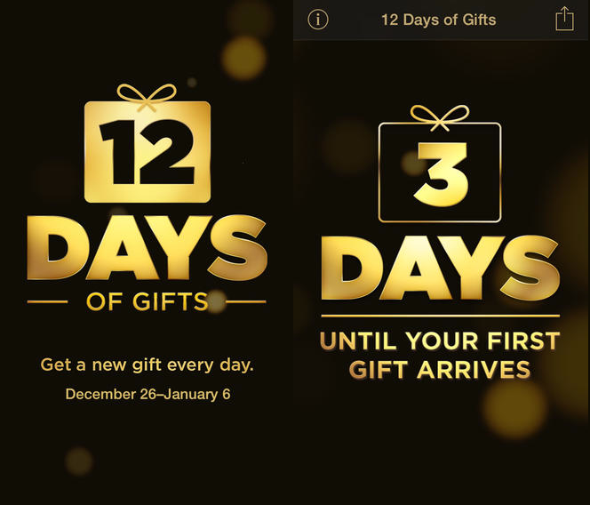 12Days 1 Apple heralds in Christmas with its 12 Days of Gifts app, now spreads cheer to US users too