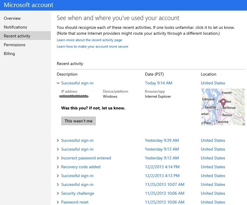 4722.Activity 51621894 Microsoft beefs up account security with recent activity, recovery codes, and better notification controls