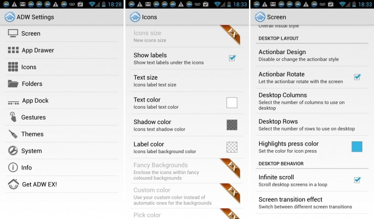 ADWLauncher settings 730x429 11 of the best Android launchers and home screen replacements you can download today
