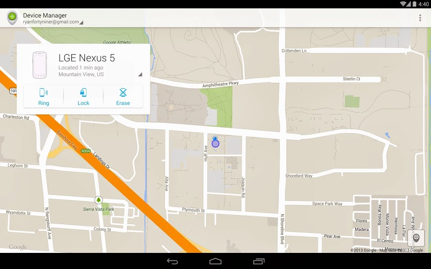 AndroidDeviceManager Google launches Android Device Manager app, lets you use another device to find your lost phone or tablet