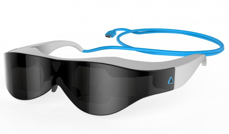 Atheer One Quarter 730x427 Atheer Labs launches crowdfunding pre orders for its futuristic 3D augmented reality headset