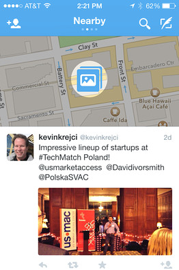 BN AU167 twitte DV 20131214124223 Twitter tests showing tweets near your location on iOS