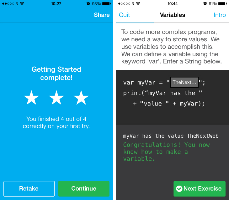 Codecademy2 Codecademy: Hour of Code app for the iPhone lets you learn basic programming anytime, anywhere