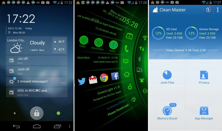 GO Launcher EX addons1 730x430 11 of the best Android launchers and home screen replacements you can download today