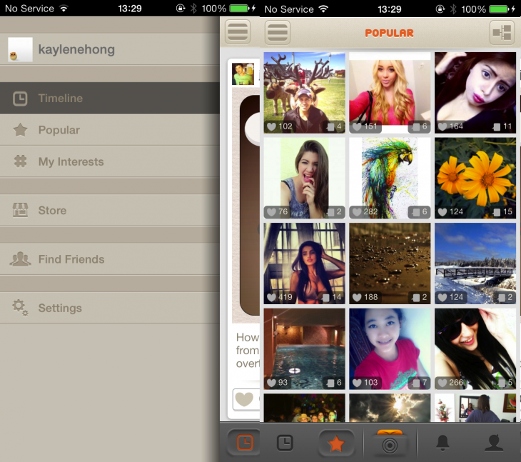 Molome 3 730x647 Bored of Instagram? Molome is a wacky alternative where photos have stickers, captions and more
