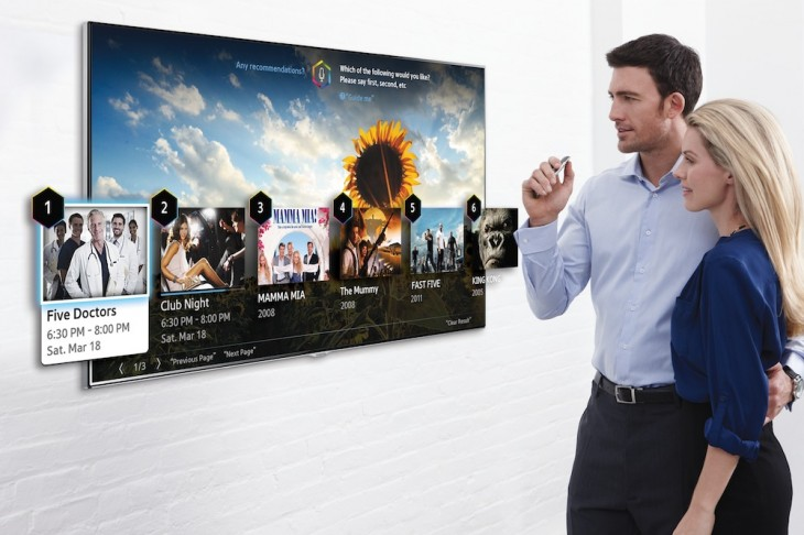 Samsung SmartTV 730x486 Samsung to showcase new smart TV in January with improved voice interaction and motion control