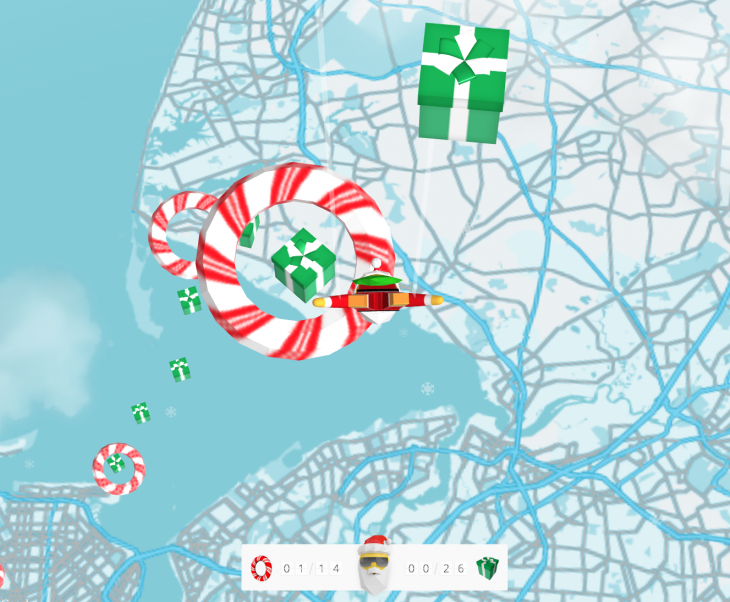 Screen Shot 2013 12 11 at 16.49.37 730x602 Googles Santa Maps Dive lets you control a Christmas Pegman as he drops into six cities in Chrome