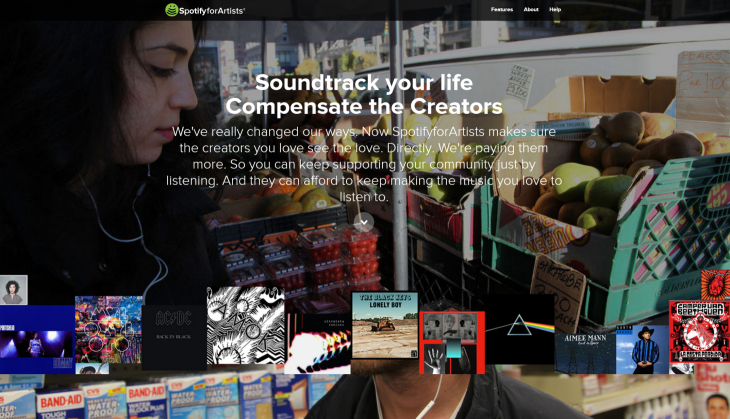 SpotifyforArtists 730x419 Spoof website SpotifyforArtists launched to bring attention to artist royalty rates