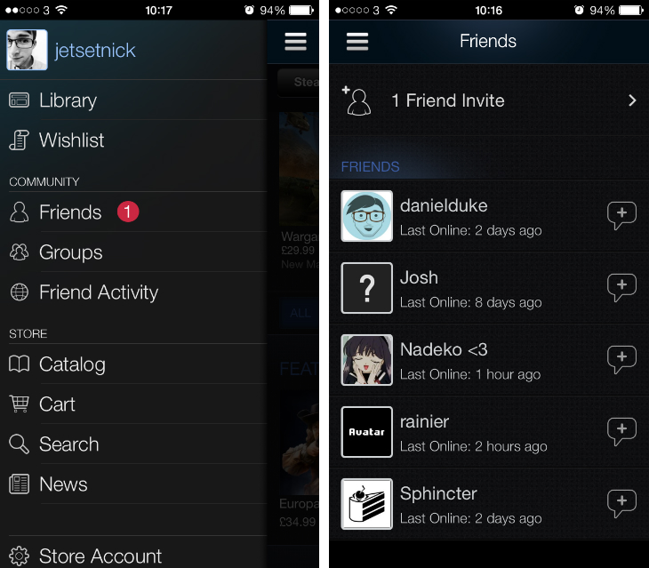 Steam Valve redesigns its Steam Mobile for iOS app, adds offline chat, new friend invite area and more