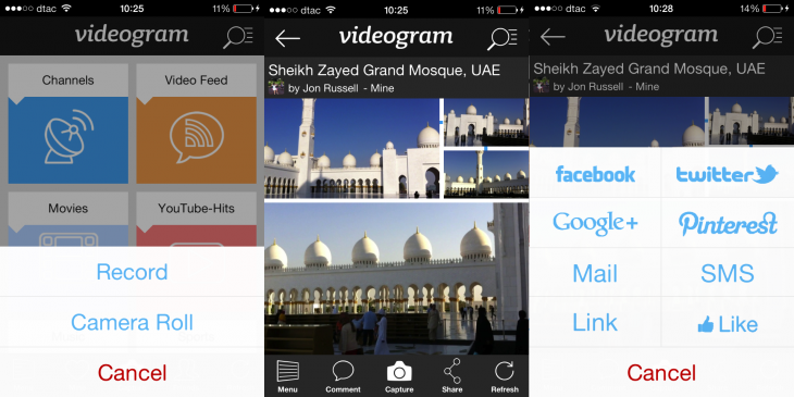 Videogram 730x365 Videogram updates its iOS app to help you better capture clips that are stitched into a video