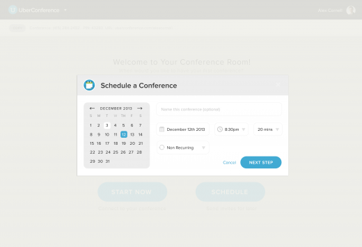 Web Schedule Overlay 520x355 UberConference customers get unlimited call recording in an updated version of the conference call service