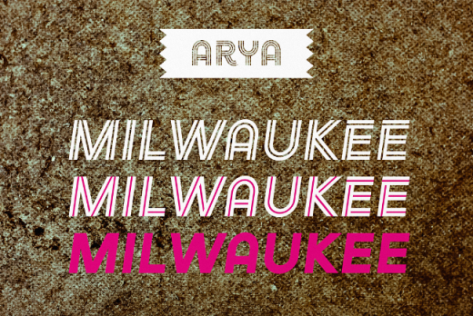 arya 520x348 The most beautiful typefaces from this past month