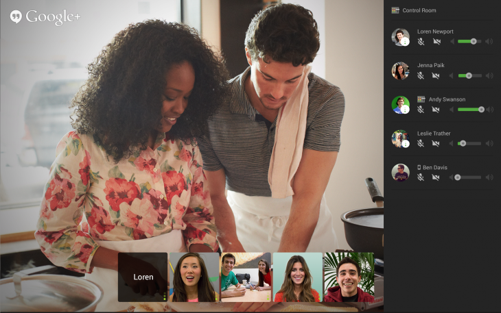 control room 730x457 Google rolls out its Control Room feature to help manage audio and video settings in live Hangouts