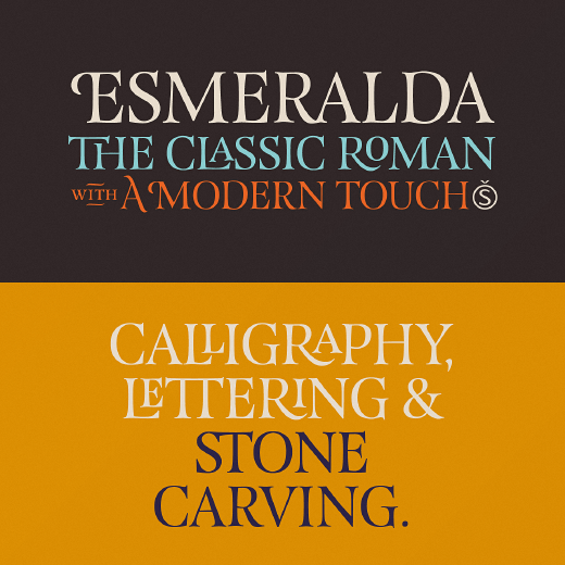 esmeralda The best typefaces of 2013