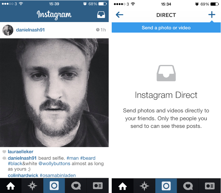 insta2 Instagram launches Instagram Direct, lets you share photos and videos privately with friends