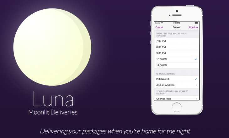 luna delivery 730x441 Lunas late night delivery service ships your packages when youre actually home