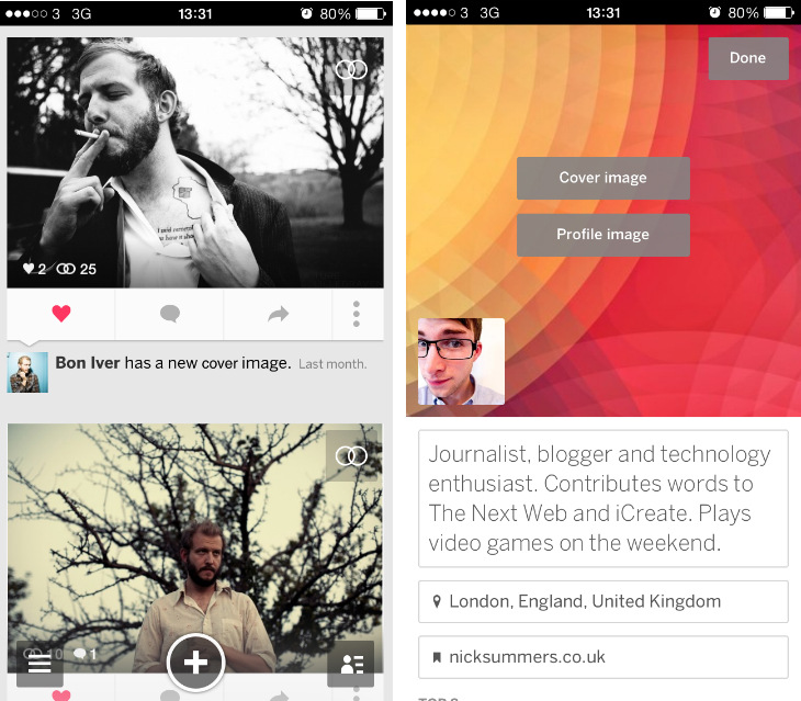myspace1 Myspace for iOS gets a redesigned stream, a better profile editor, event live streaming and more