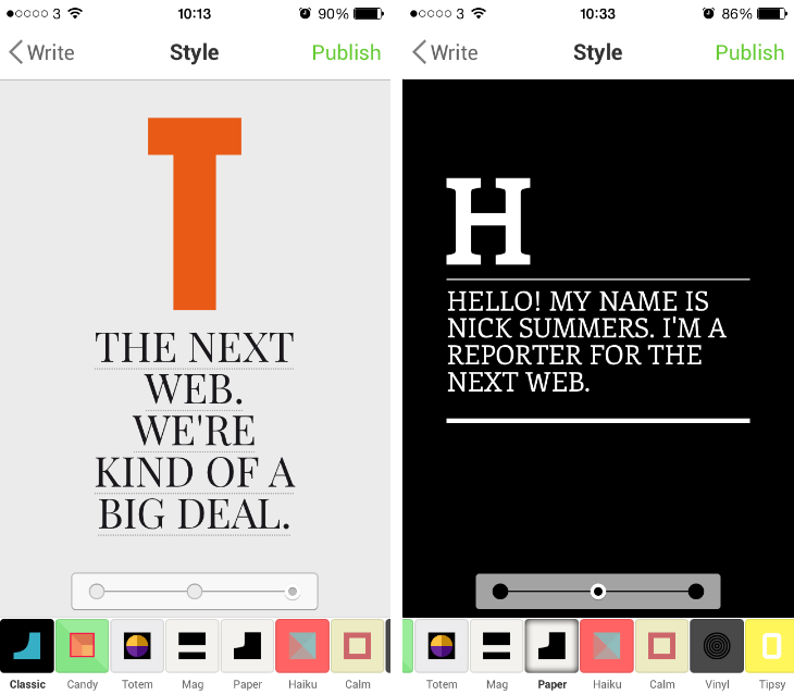 note1 Notegraphy is an Instagram style app for creating short notes with beautiful typography
