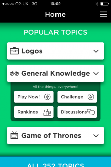 quizup1 QuizUp trivia app for iOS now has more than 5 million players... and it only launched last month