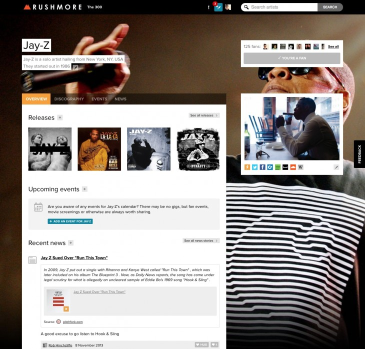 resource 3 730x698 This is Rushmore.fm, a Wikipedia style music platform to help you follow your favorite artists