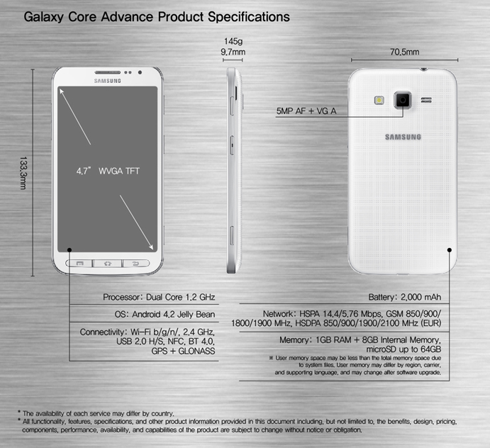 sammy Samsung announces the Galaxy Core Advance, a budget smartphone arriving in 2014