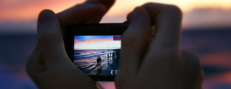 Taking sunset video