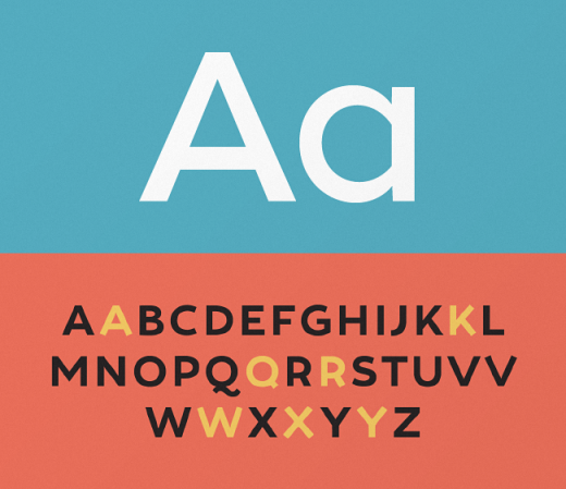tide sans 520x449 The most beautiful typefaces from this past month