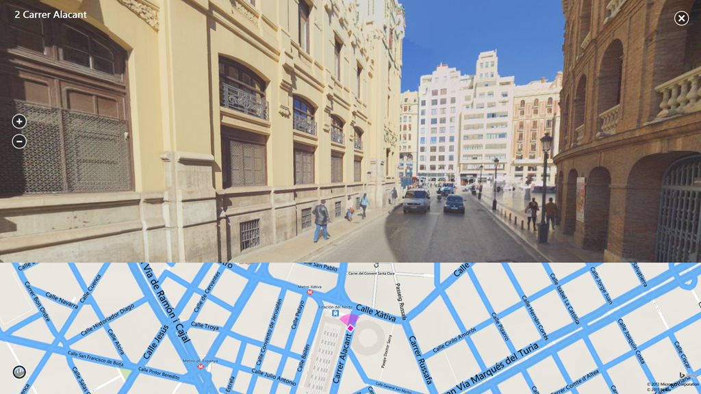 valencia streetside2 185C8AE5 Microsoft launches Bing Maps Preview for Windows 8.1 with 3D imagery, Streetside, traffic notifications, and more
