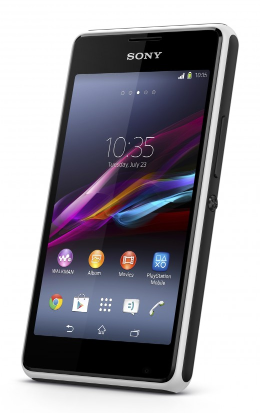 7 Xperia E1 White Front Angle 520x824 Sony unveils Xperia T2 Ultra phablet and Xperia E1 smartphone with a focus on entertainment