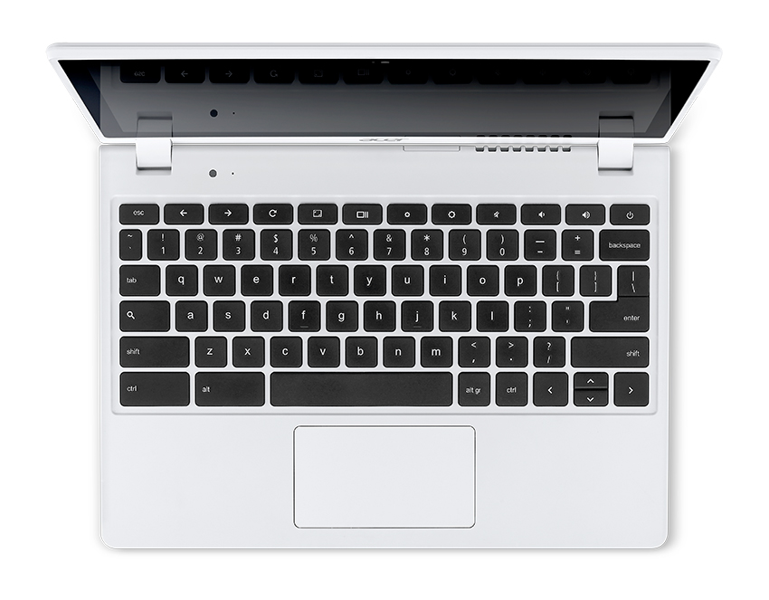 Acer C720P Chromebook white touch keyboard