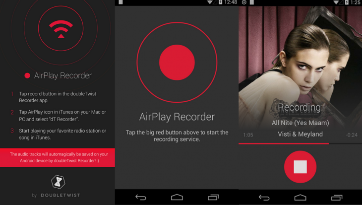 Airplay Recorder 730x413 doubleTwist Airplay Recorder for Android lets you record songs from iTunes radio