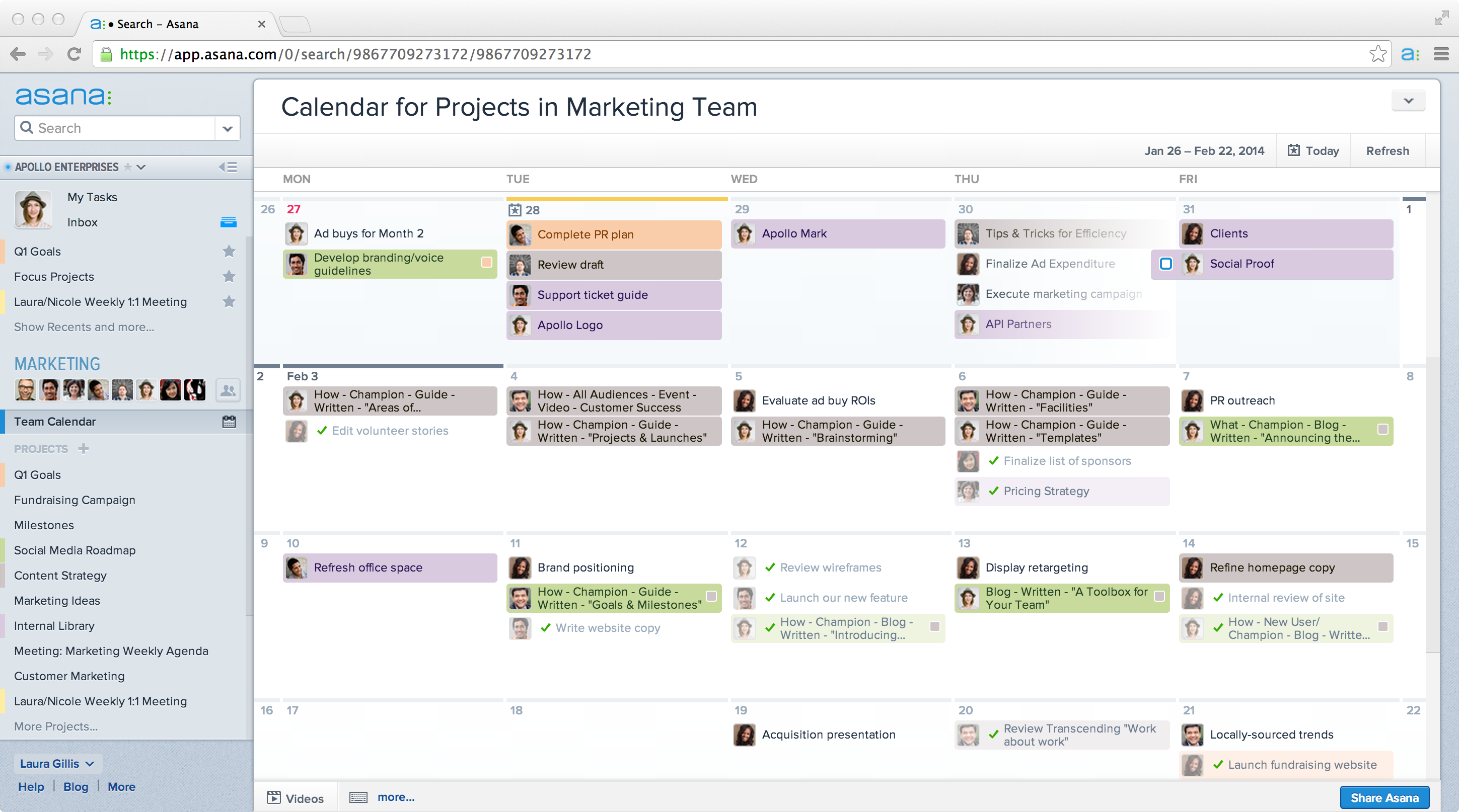 Asana Unveils Calendars A New Way To Visualize Project