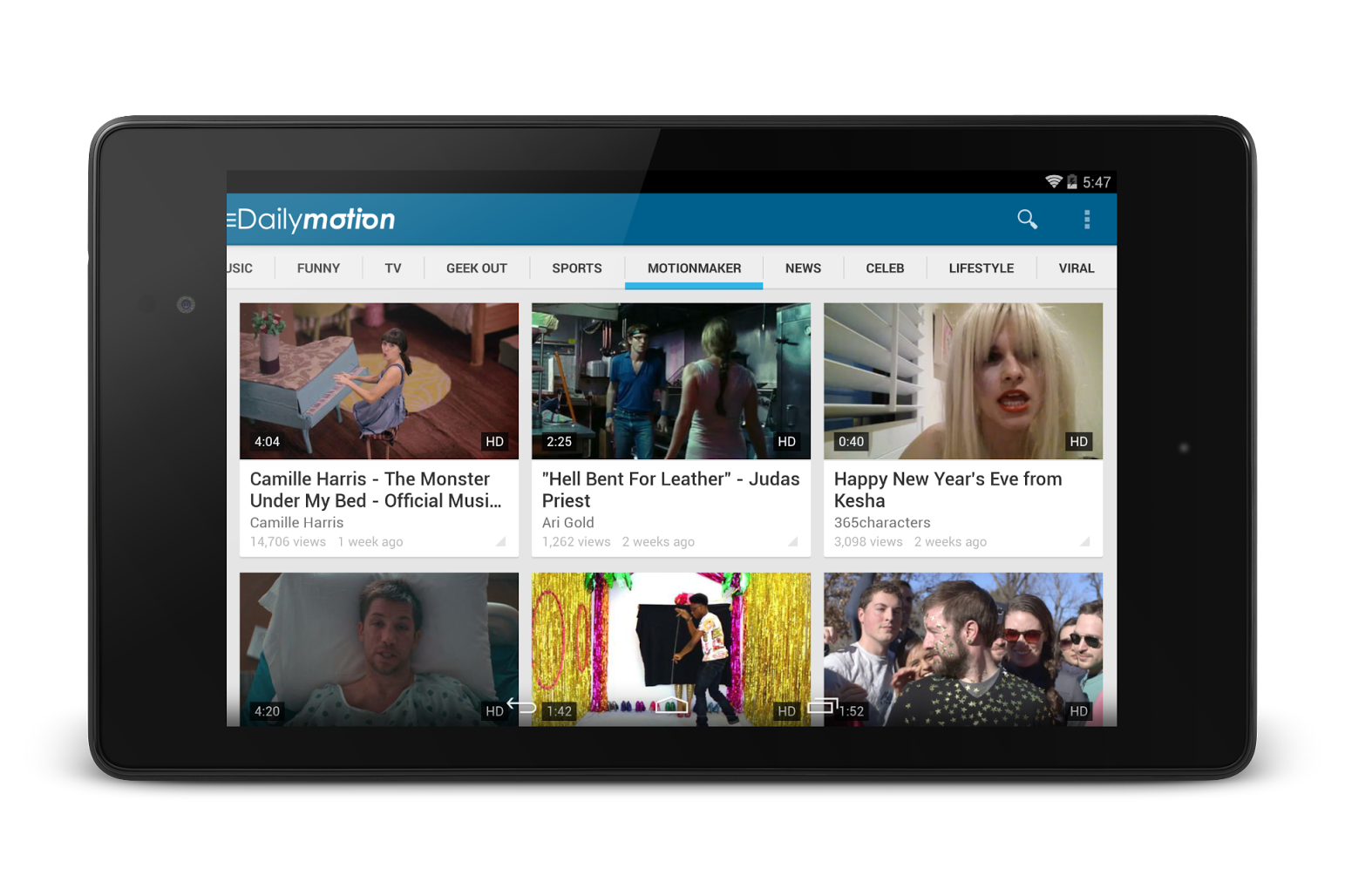 dailymotion updates android app with new design