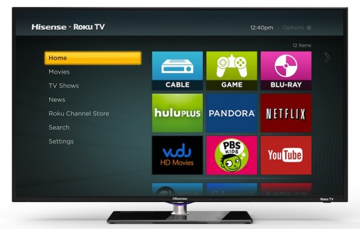 Hisense Roku TV Home 520x330 Set top box maker Roku announces its first smart TV, coming to stores this fall