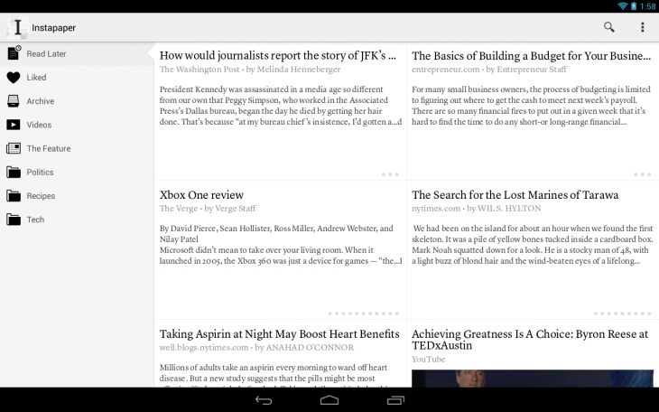Instapaper 730x456 Word up: 16 apps to help you read on the move