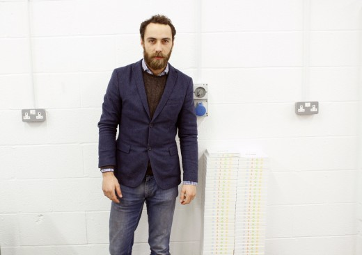 James Middleton with a stack of Boomf boxes