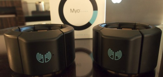 MYO armband 520x245 Hands on with the MYO gesture control armband, wearable techs answer to Leap Motion and Kinect