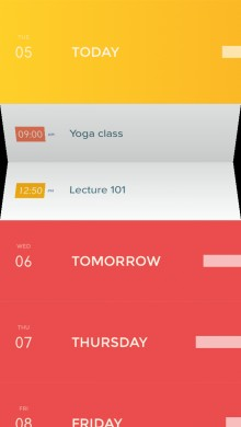 Peek screenshot1 220x390 Peek: A simple, beautiful calendar app for iPhone