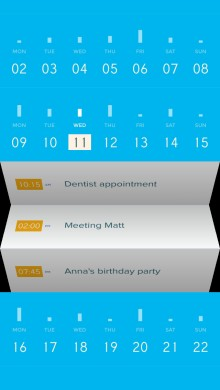 Peek screenshot8 220x390 Peek: A simple, beautiful calendar app for iPhone