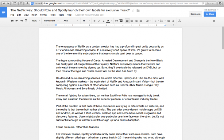 Screen Shot 2014 01 15 at 17.09.37 730x456 10 of the best word processing apps for Mac