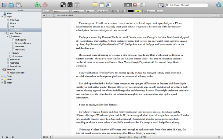 Screen Shot 2014 01 15 at 17.17.38 730x456 10 of the best word processing apps for Mac
