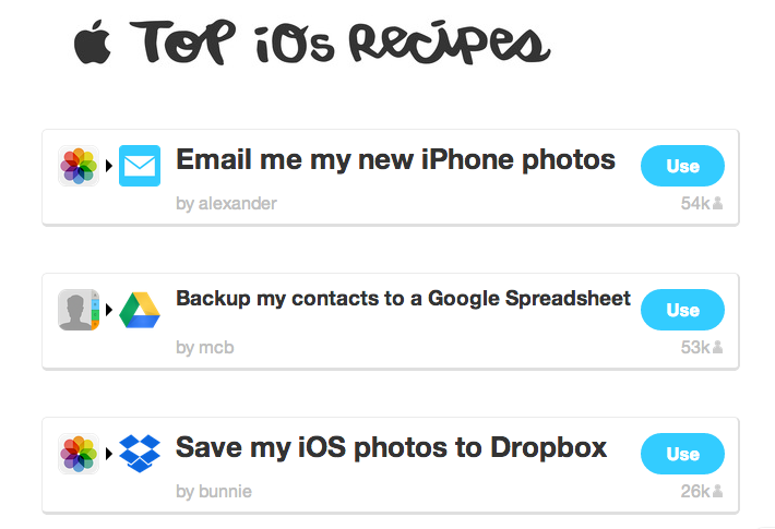 Screen shot 2014 01 10 at PM 01.20.57 IFTTTs top recipes of 2013 will inspire you to get creative on the automation service