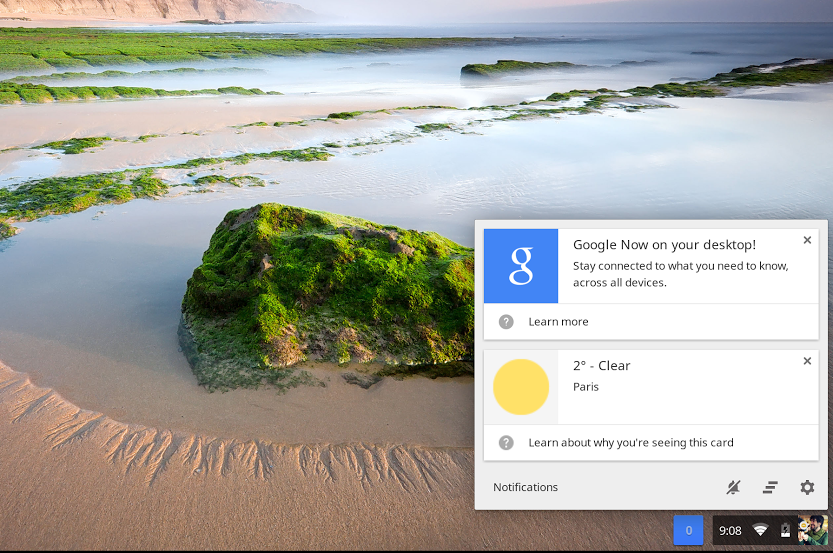 Screenshot 2014 01 22 at 9.08.24 AM Google Now arrives in latest Chrome OS build