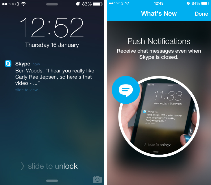 Skype Skype now supports two way HD video calls on the iPhone 5s